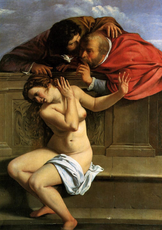 Артемизия Джентилески. Сусанна и старцы. 1610. Холст, масло. Замок Вайсенштайн, Поммерсфельден