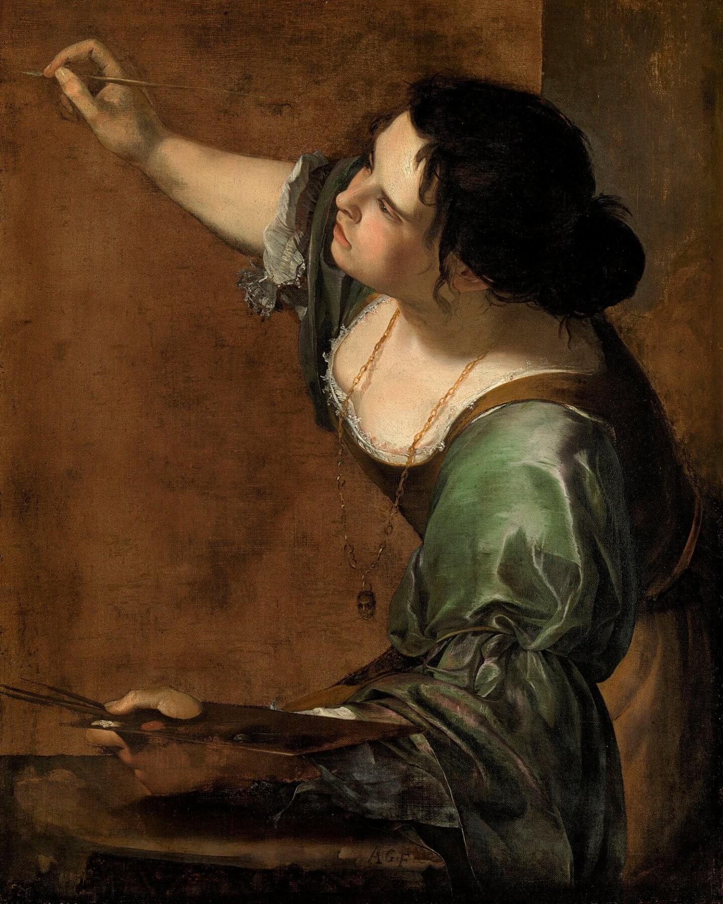 Артемизия Джентилески. Автопортрет в виде аллегории Живописи. 1630-е. Холст, масло. Королевское собрание, Виндзор