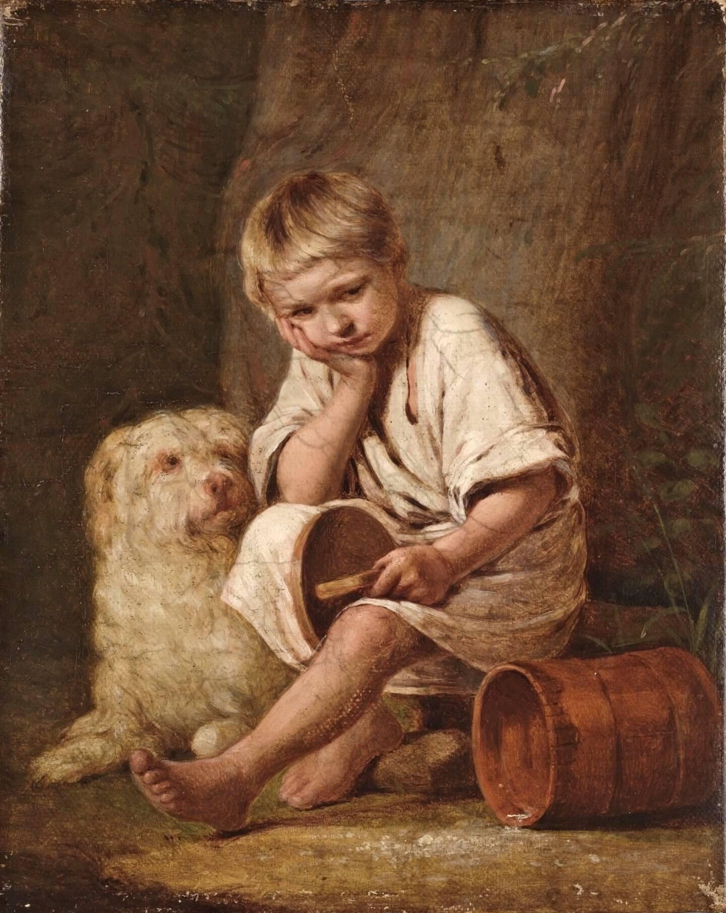 «Вот-те и батькин обед!», 1824 А.Г.Венецианов. Из коллекции Третьяковской галереи.