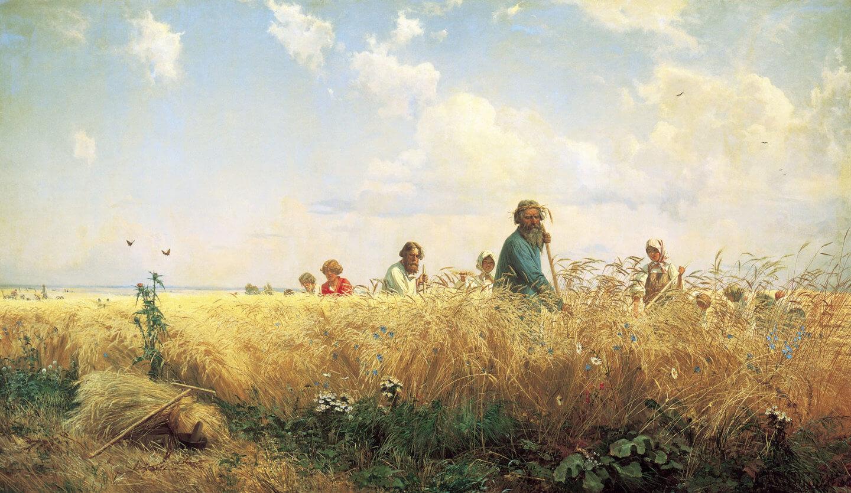 Страдная пора (Косцы), 1887. Г.Г.Мясоедов. Из собрания Русского музея