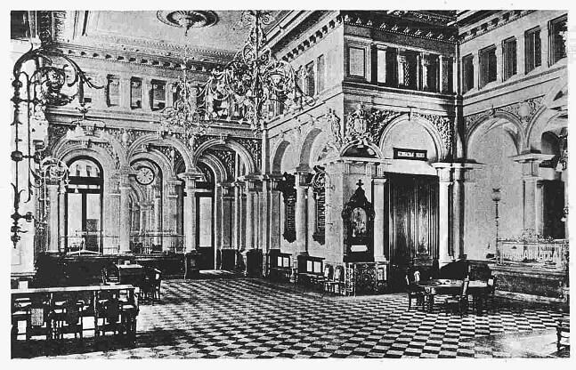 Операционный зал, фото начала XX века